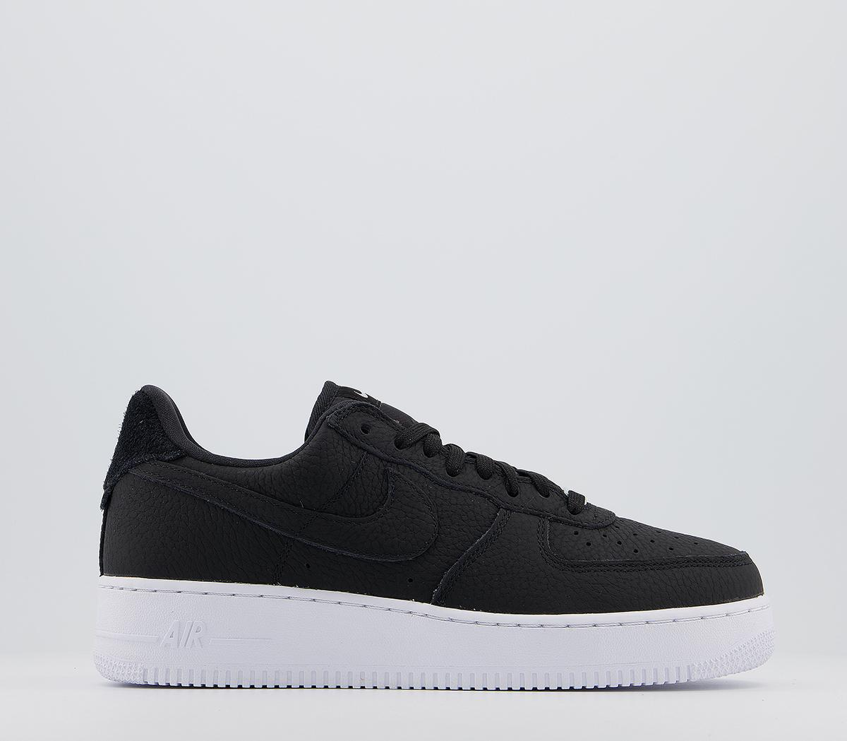 Telemacos Fuerza Ru  Nike Air Force 1 07 Trainers Craft Black Black White Vast Grey - His  trainers