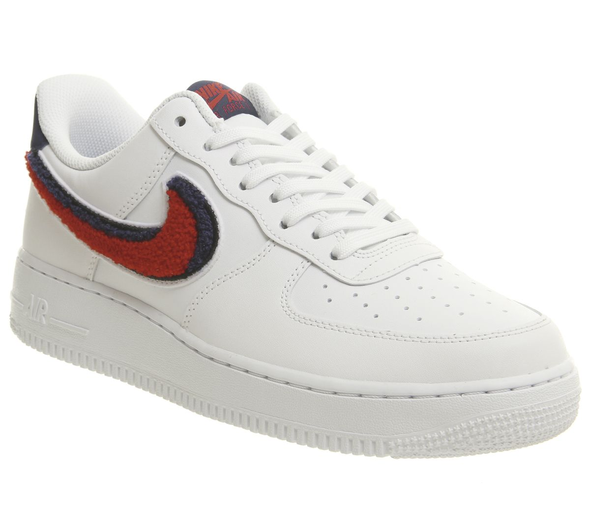 sports shoes 7dc64 fbc54 Nike Air Force 1 07 Trainers White University Red - His trainers