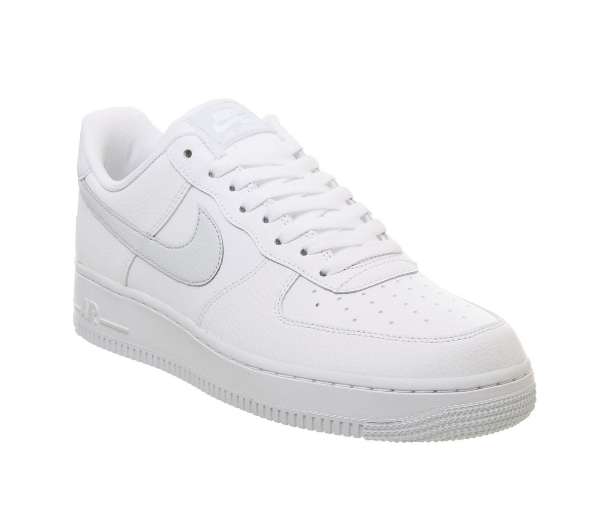 promo code 796d3 08c5b Nike Air Force 1  07 Trainers White Pure Platinum Metallic Silver ...
