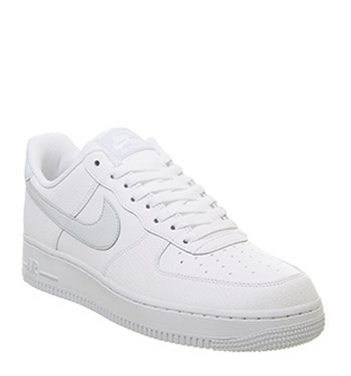 sale retailer 7431e 80256 Quickbuy. Launching 30-03-2019. Nike Air Force 1  07 Trainers White Pure  Platinum Metallic Silver. £74.99