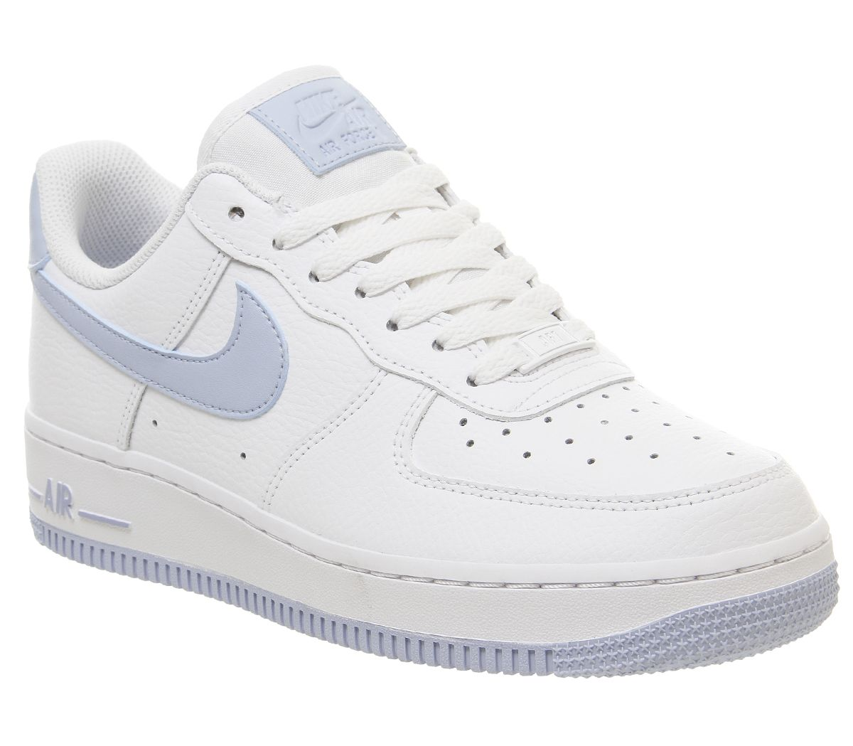 514e8f8b8 Nike Air Force 1 07 Trainers White Light Armory Blue - Hers trainers