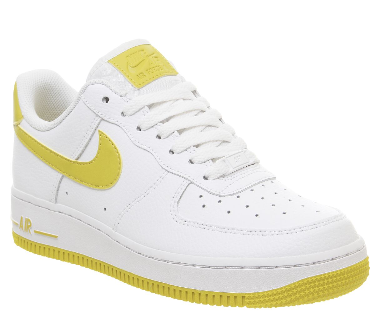 ad9f08d045a347 Nike Air Force 1 07 Trainers White Bright Citron - Hers trainers