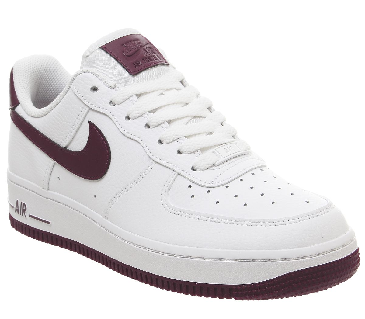 low priced d2617 6e378 Nike Air Force 1 07 Trainers White Bordeaux - Hers trainers