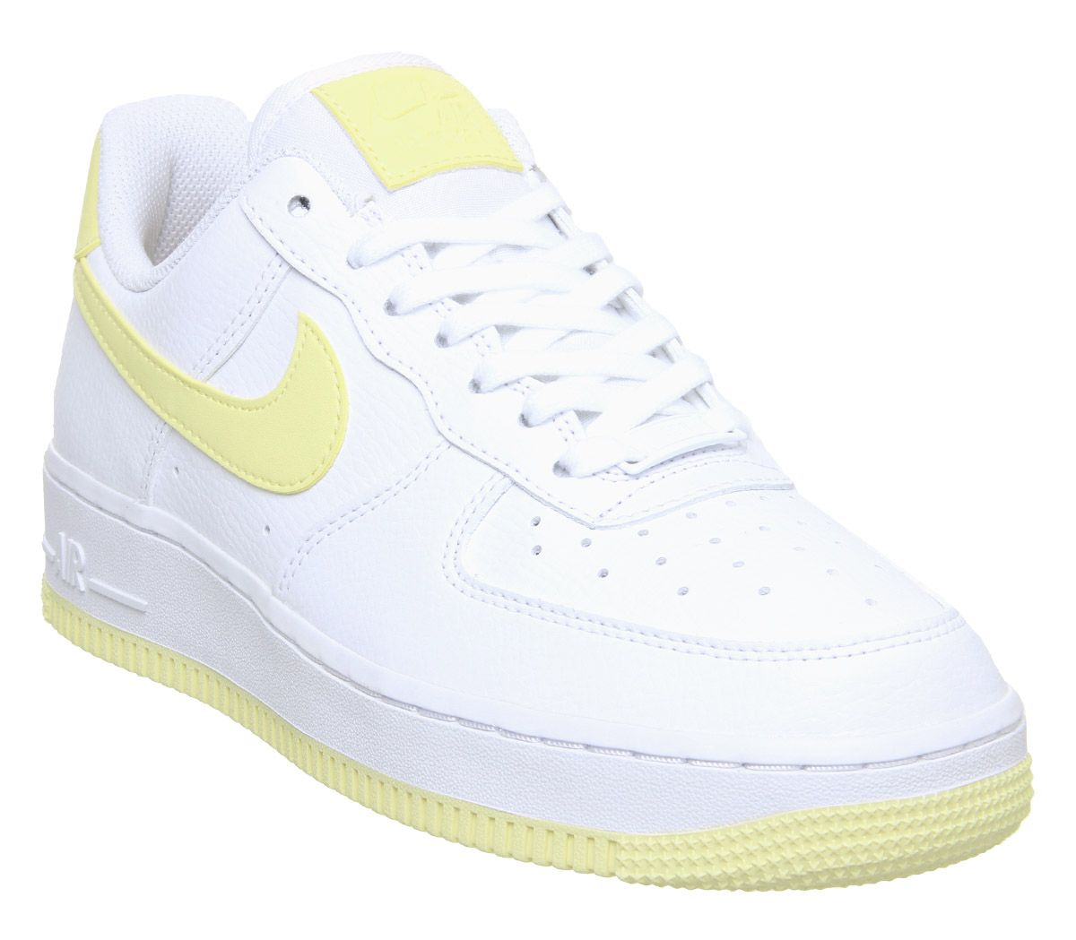 ef5b14be938283 Nike Air Force 1 07 Trainers White Bicycle Yellow Dark Sulfur - Hers ...