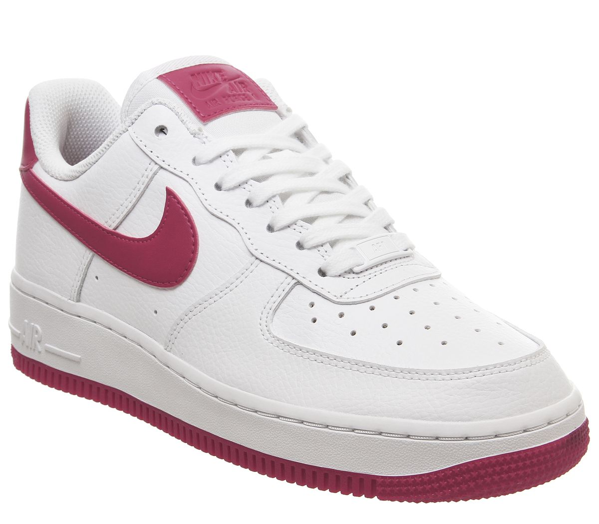 the best new high quality so cheap Nike Air Force 1 07 Trainers White Wild Cherry White Noble ...