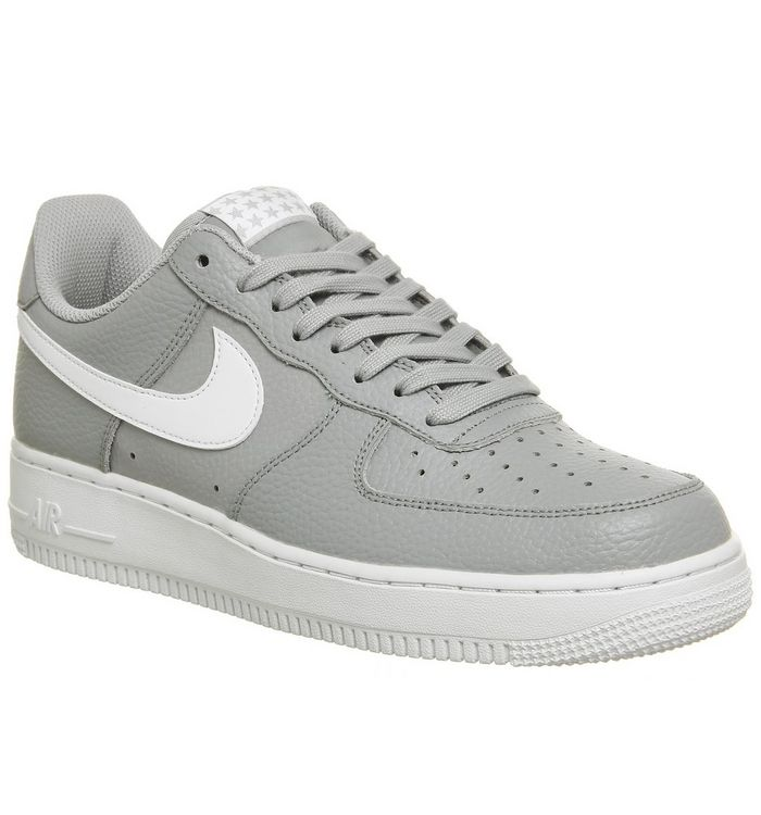 official photos 84c4b 06546 ... Nike, Air Force 1 07 Trainers, Wolf Grey White White ...