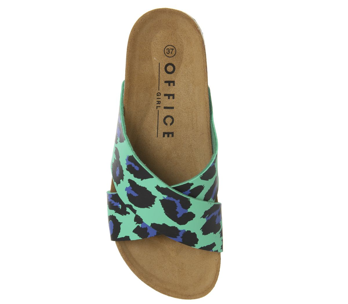 f31eed1eb04a Hoxton 2 Sandals. Double tap to zoom into the image. Office, Hoxton 2  Sandals, Green Leopard ...