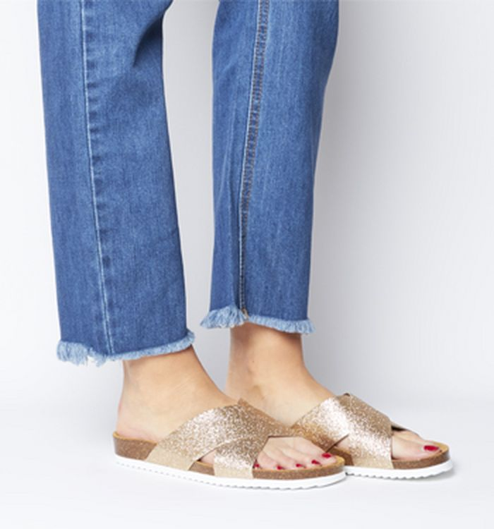 1fddcdd0c280 26-02-2019 · Office Hoxton 2 Sandals Fine Rose Gold Glitter. was £29.00 NOW  £24.00. SAVE 18%