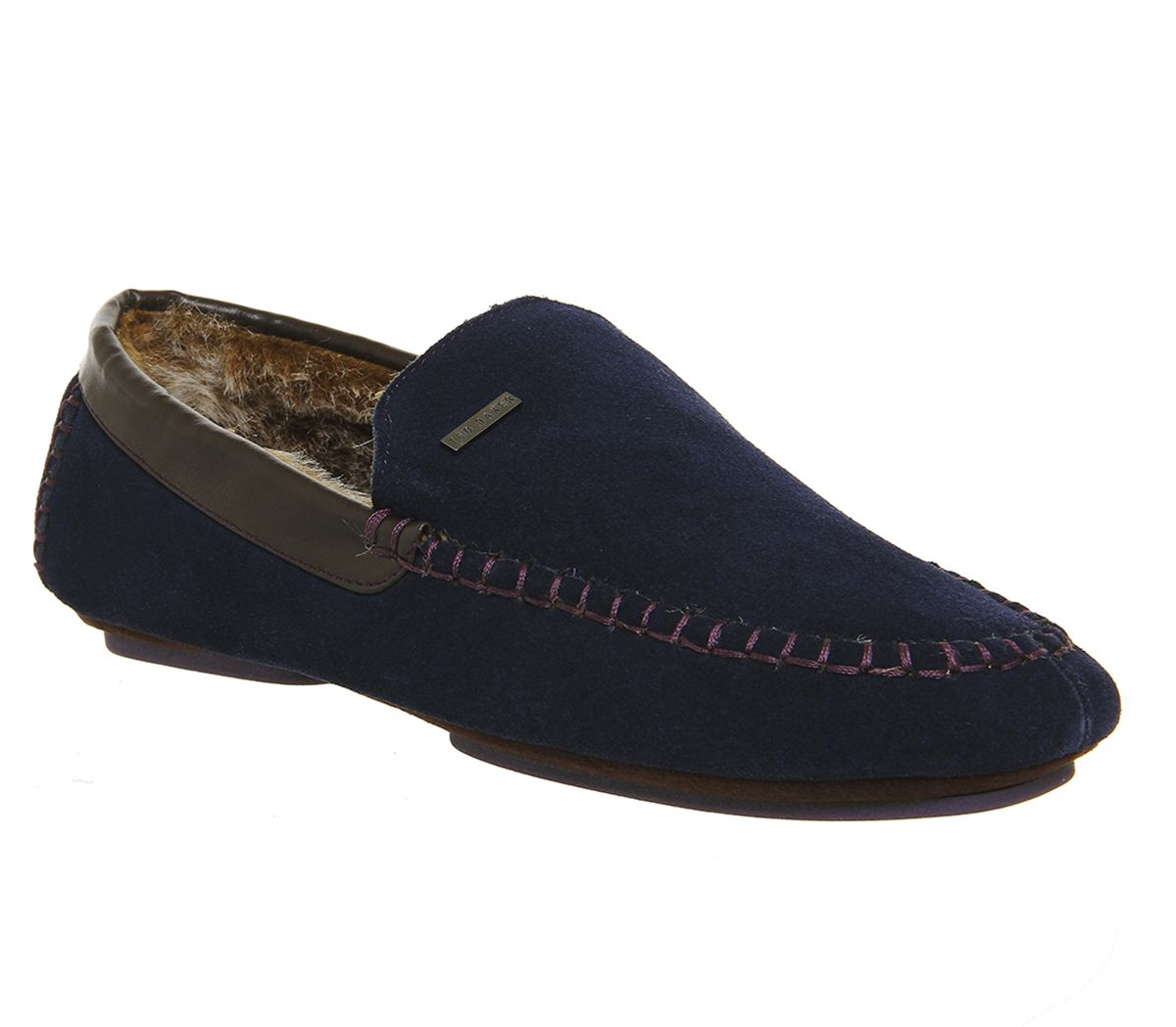 d0158b874bdb Ted Baker Moriss Slippers Dark Blue Suede - Casual