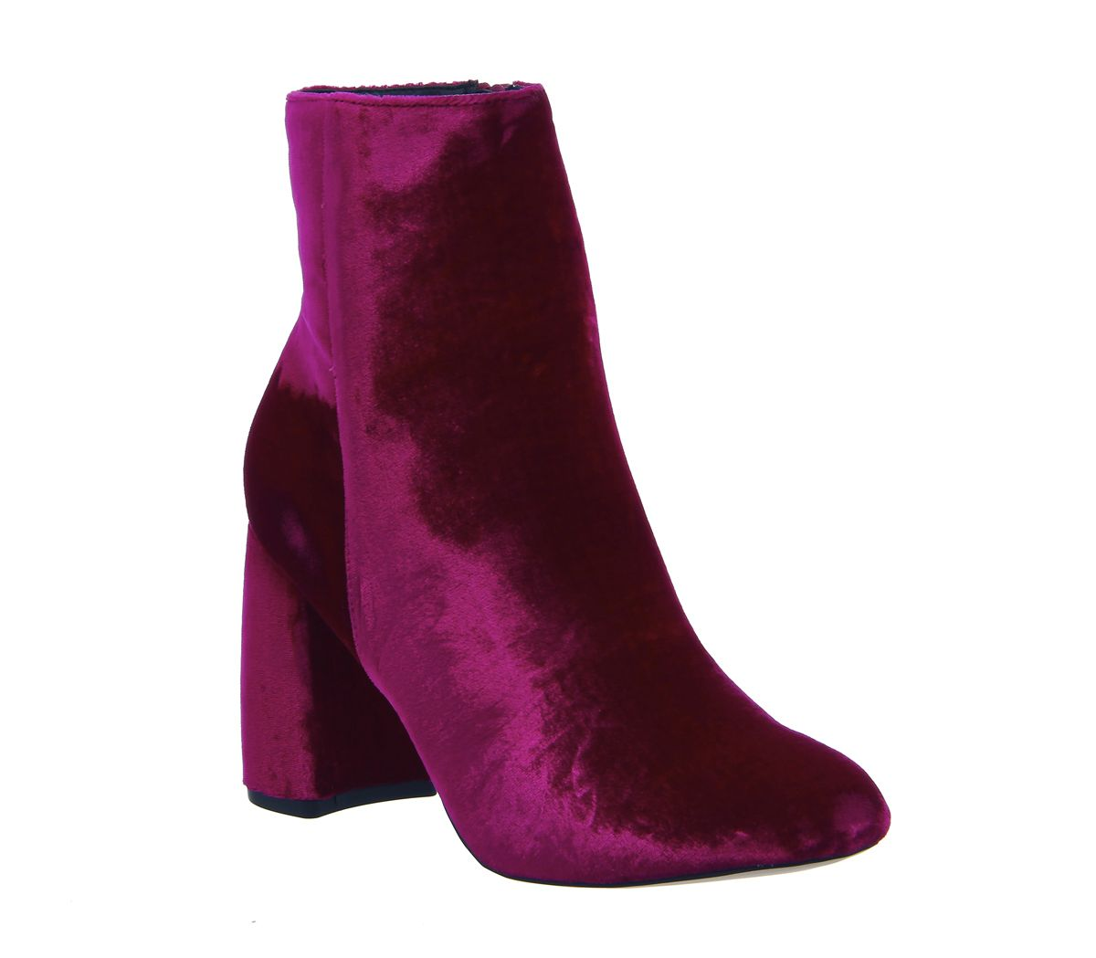 571870e4f9d7 Office Literally High Cut Boots Pink Velvet - Ankle Boots