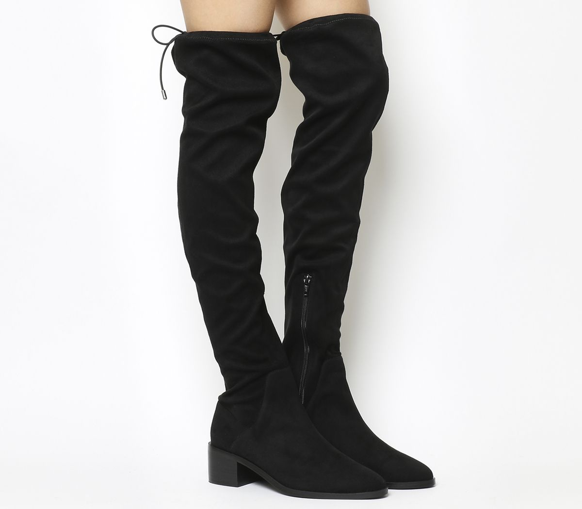 bd386d46215 Office Karma Over The Knee Boots Black - Knee Boots