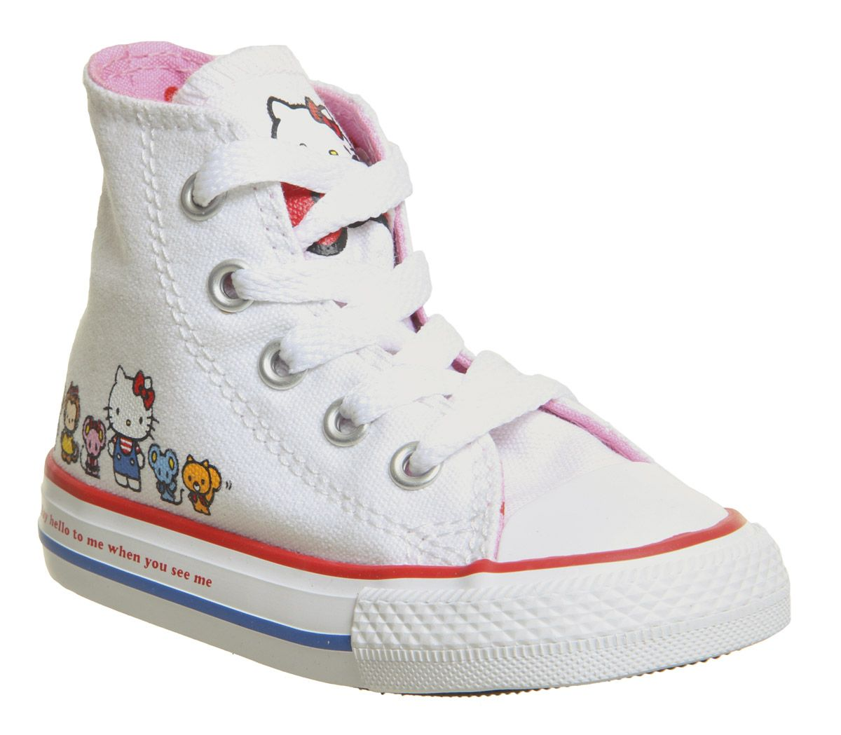 17b01ec38010 Converse Small Star Hi Canvas Trainers White Hello Kitty - Unisex