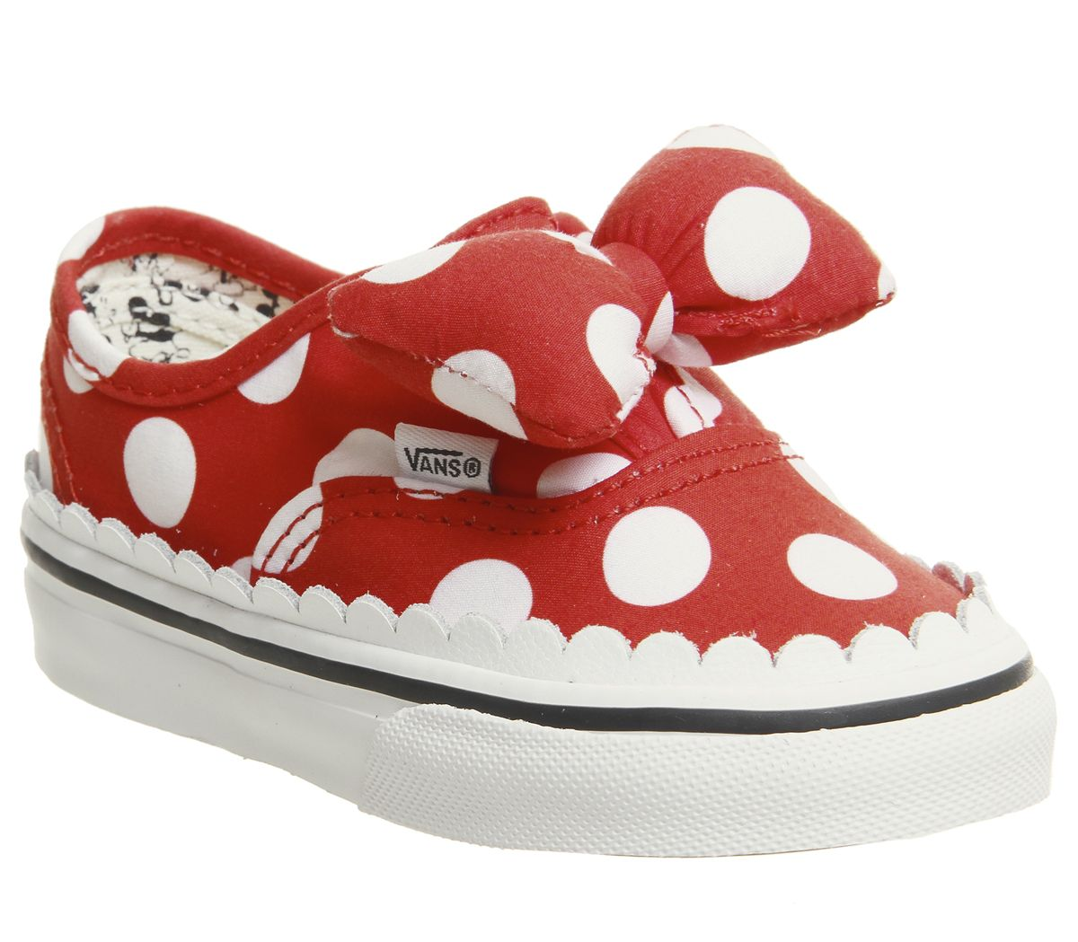 b85f32a9c107 Vans Authentic Toddlers Trainers Minnies Bow True White Disney - Unisex