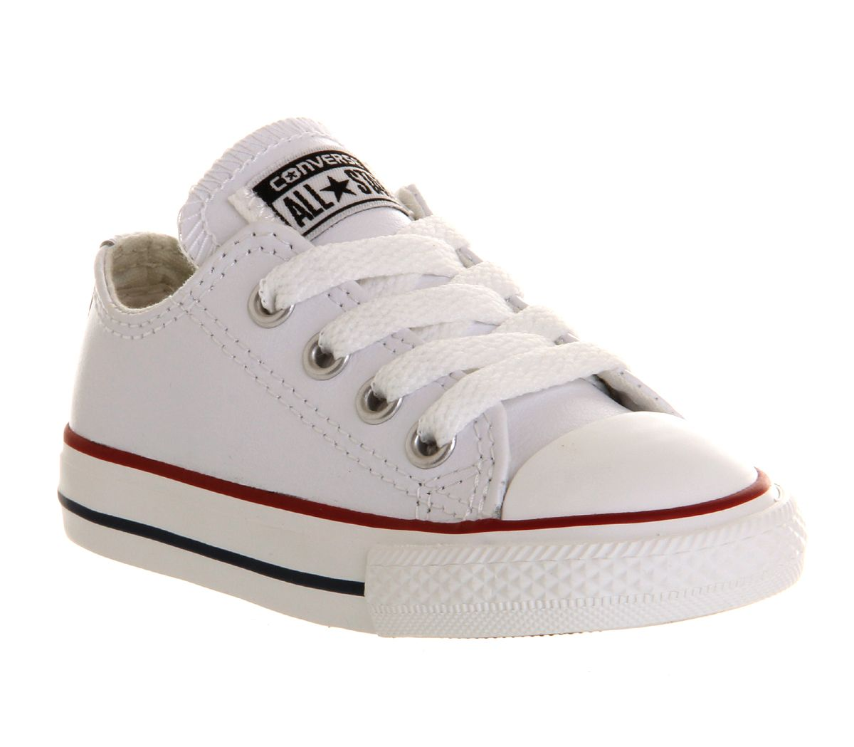 9b3abfdbf16b Converse All Star Low Infant Shoes Optical White Leather - Unisex