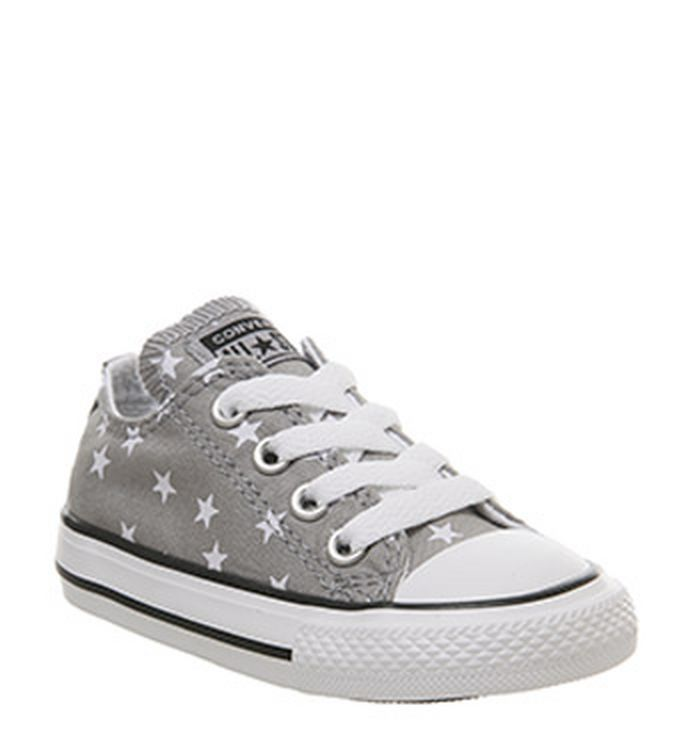 3cc5c0eb15e4c8 20-03-2019 · Converse Allstar Low Infant Trainers Grey White Star  Exclusive. £29.99. Quickbuy