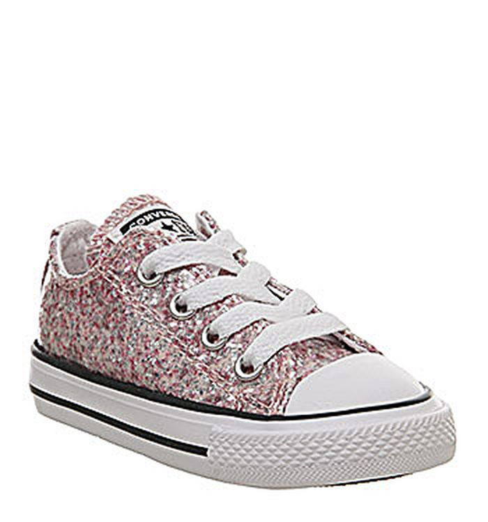 30e5280484f6 20-03-2019 · Converse Allstar Low Infant Trainers Light Pink Glitter  Exclusive
