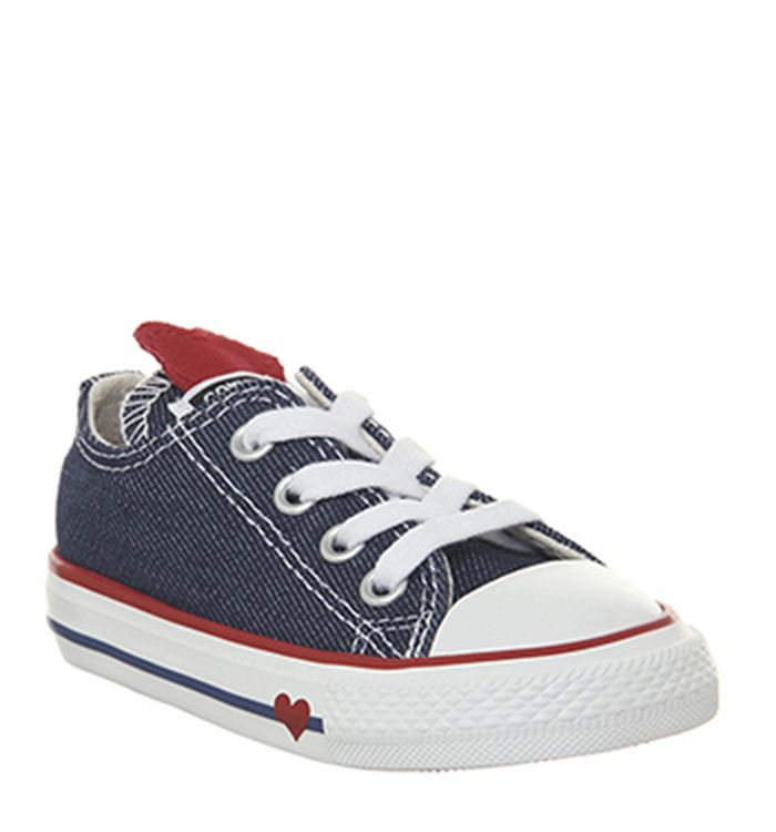 82579360d78 Converse Allstar Low Infant Trainers Red Emamel Red Heart. £29.99.  Quickbuy. 15-01-2019