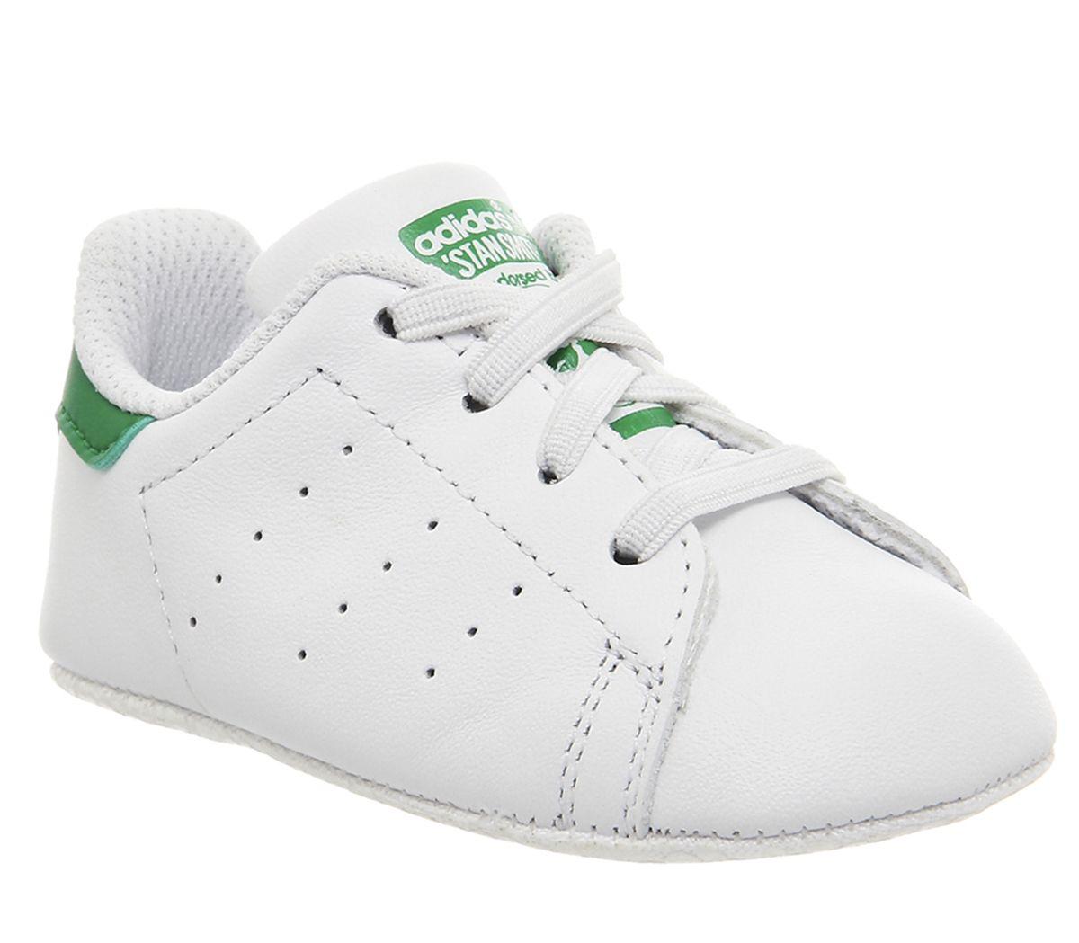 the latest 89e42 6eb73 adidas Stan Smith Crib White White Green - Unisex