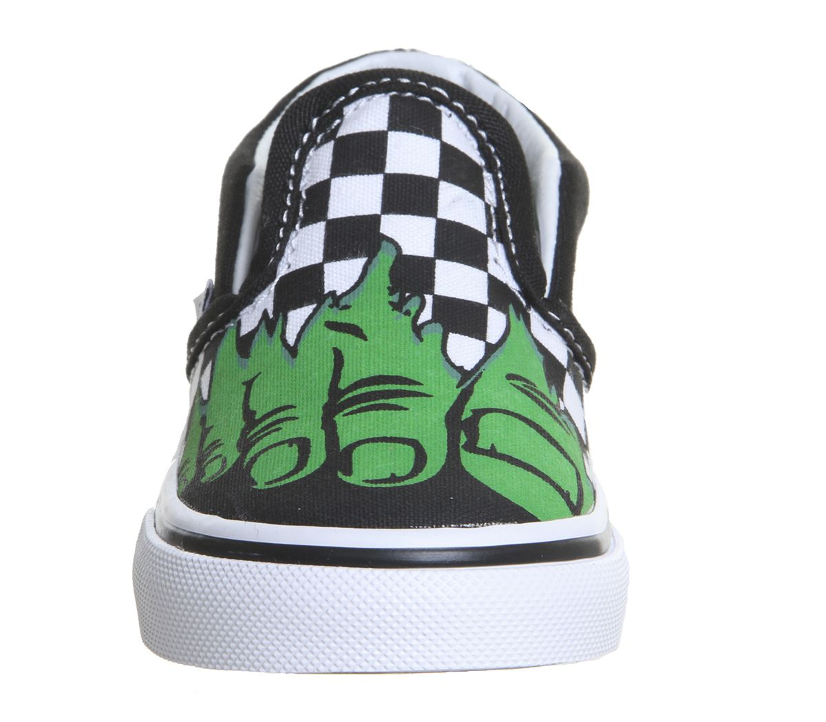 d63ef2377d Vans Classic Slip On Toddlers Hulk Checkerboard Marvel - Unisex
