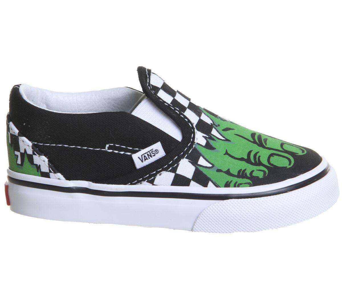 83c5355c7f541f Vans Classic Slip On Toddlers Hulk Checkerboard Marvel - Unisex