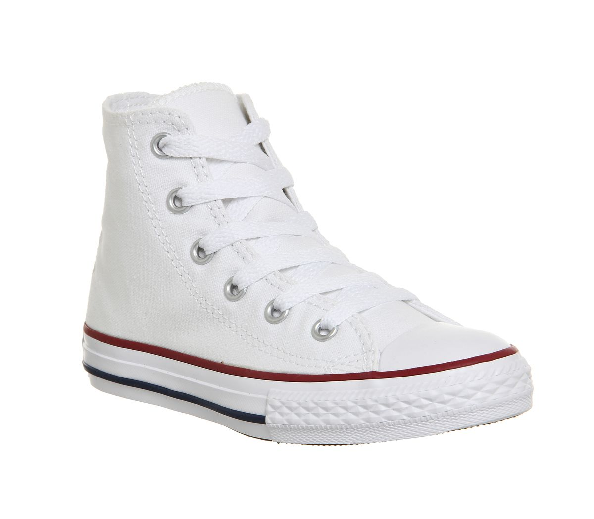 new style 0ff98 5fb95 Converse All Star Hi Mid Sizes Optical White - Unisex