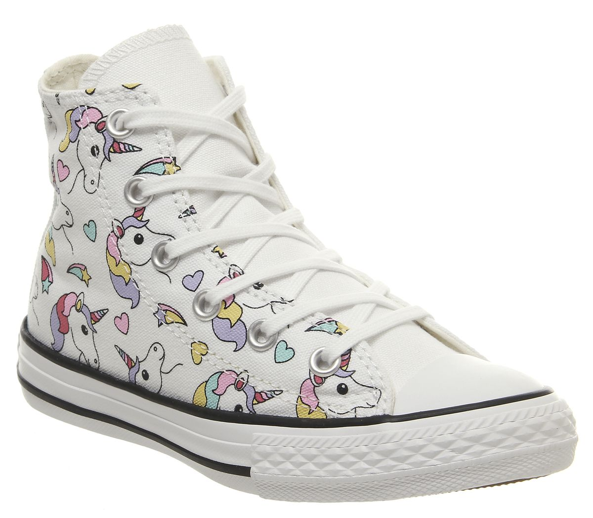 the best attitude 28685 15dfb Converse All Star Hi Mid Sizes Trainers Unicorn Rainbow - Unisex