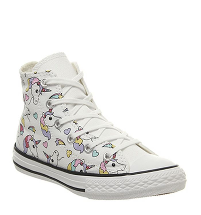 50047f98cd7 19-12-2018 · Converse All Star Hi Mid Sizes Trainers Unicorn Rainbow