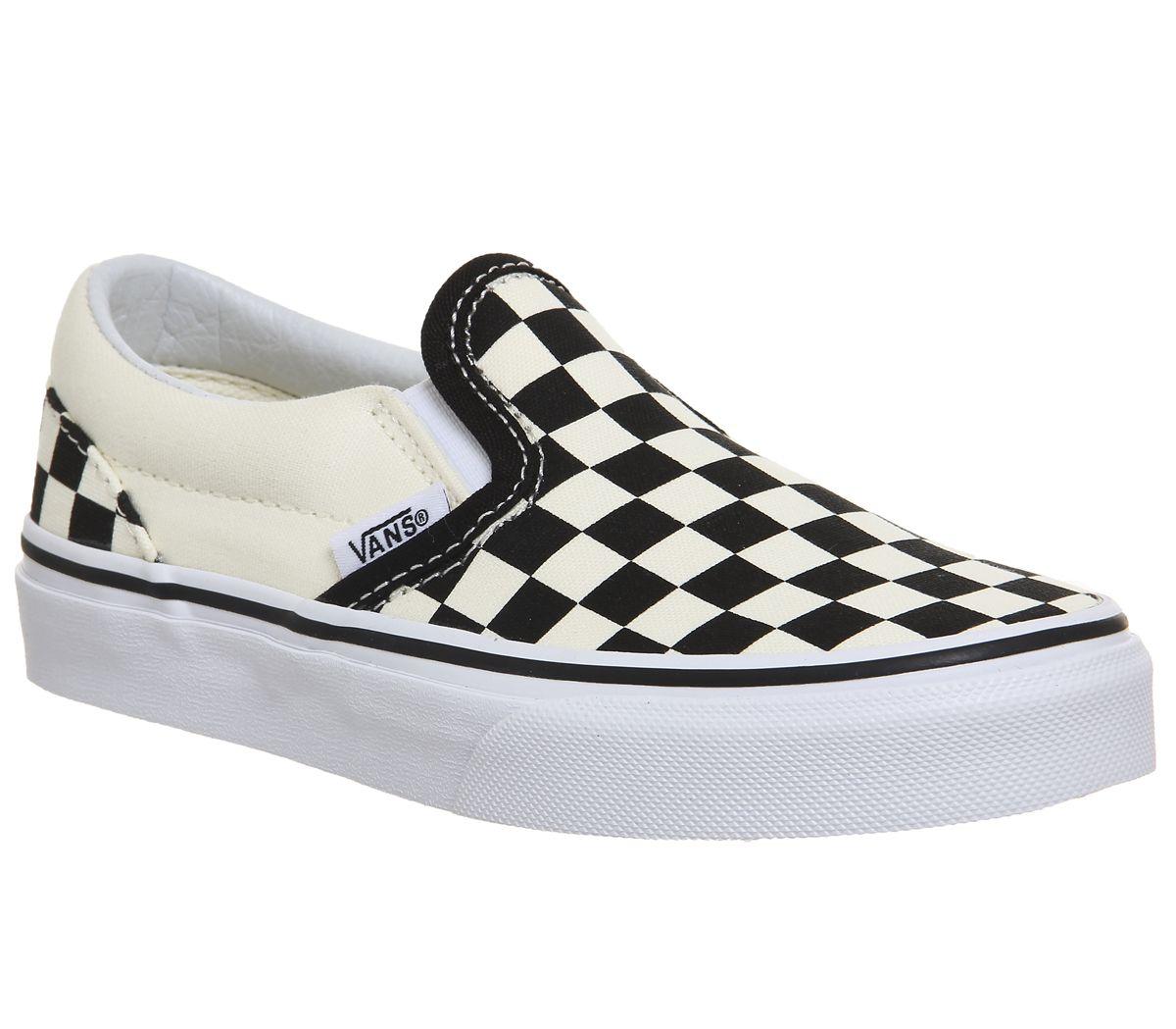 235621952a Vans Classic Slip On Kids Black White Checkerboard - Unisex