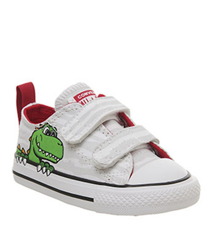 89f6f5bf6850 15-01-2019 · Converse All Star 2vlace Trainers White Dinosaur Face. £29.99