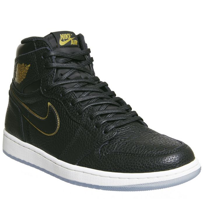 huge discount 19912 9b603 Jordan Air Jordan 1 Retro Hi Black Metallic Gold White - His trainers