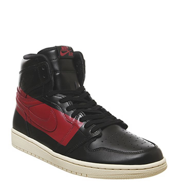 brand new 27809 c3ca8 17-04-2019 · Jordan Air Jordan 1 Retro Hi Trainers Defiant Couture Black  Gym Red Muslin. £155.00
