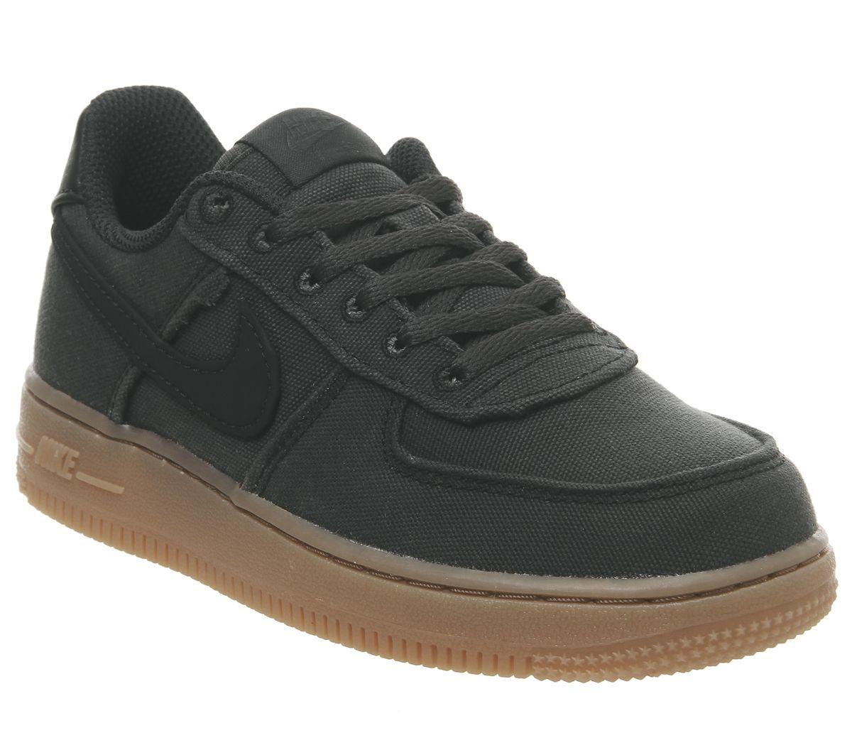 size 40 0a783 dcc68 Nike Air Force 1 Ps Trainers Black Black Gum Lv8 - Unisex