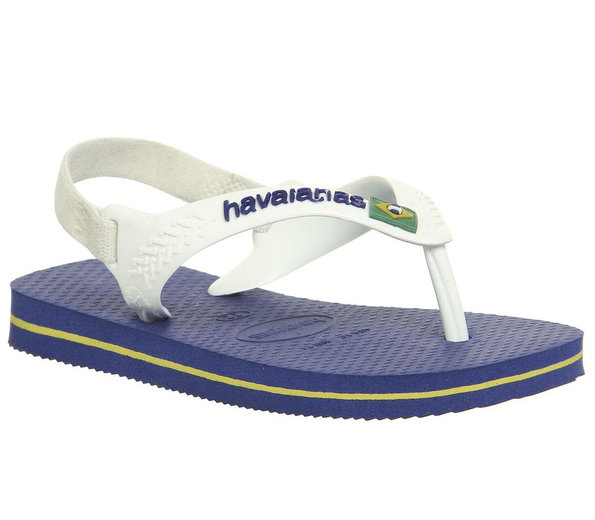 d5fa241e382f Havaianas Baby Brazil Sandals Marine Blue White - Unisex