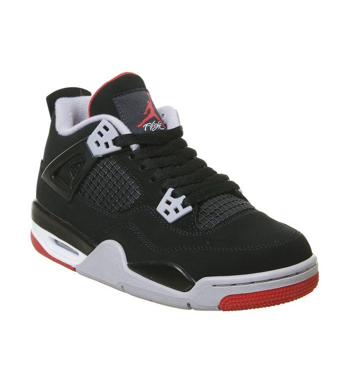 100% authentic addac 89b3b Jordan 4 Gs Trainers  Jordan, Jordan 4 Gs Trainers, Black Red Grey Summit  White ...