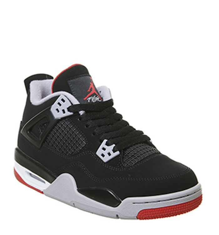 37032632caec9a Jordan 4 Retro Trainers Black Fire Red Cement Grey Summit White. £165.00.  Quickbuy. Launching 04-05-2019