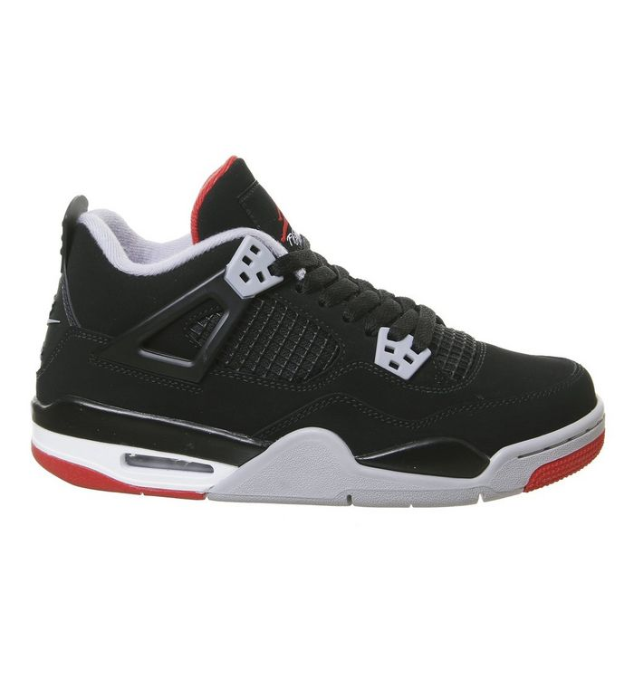 official photos 1d408 64b30 ... Black Red Grey Summit White  Jordan 4 Gs Trainers ...