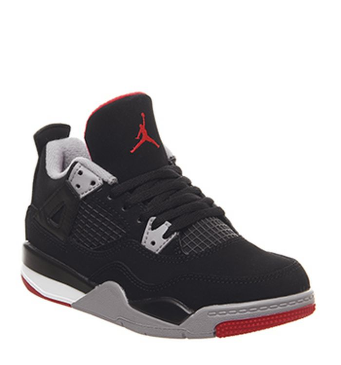 brand new 36640 feb78 Jordan 4 Retro Trainers Black Fire Red Cement Grey Summit White. £165.00.  Quickbuy. Launching 04-05-2019