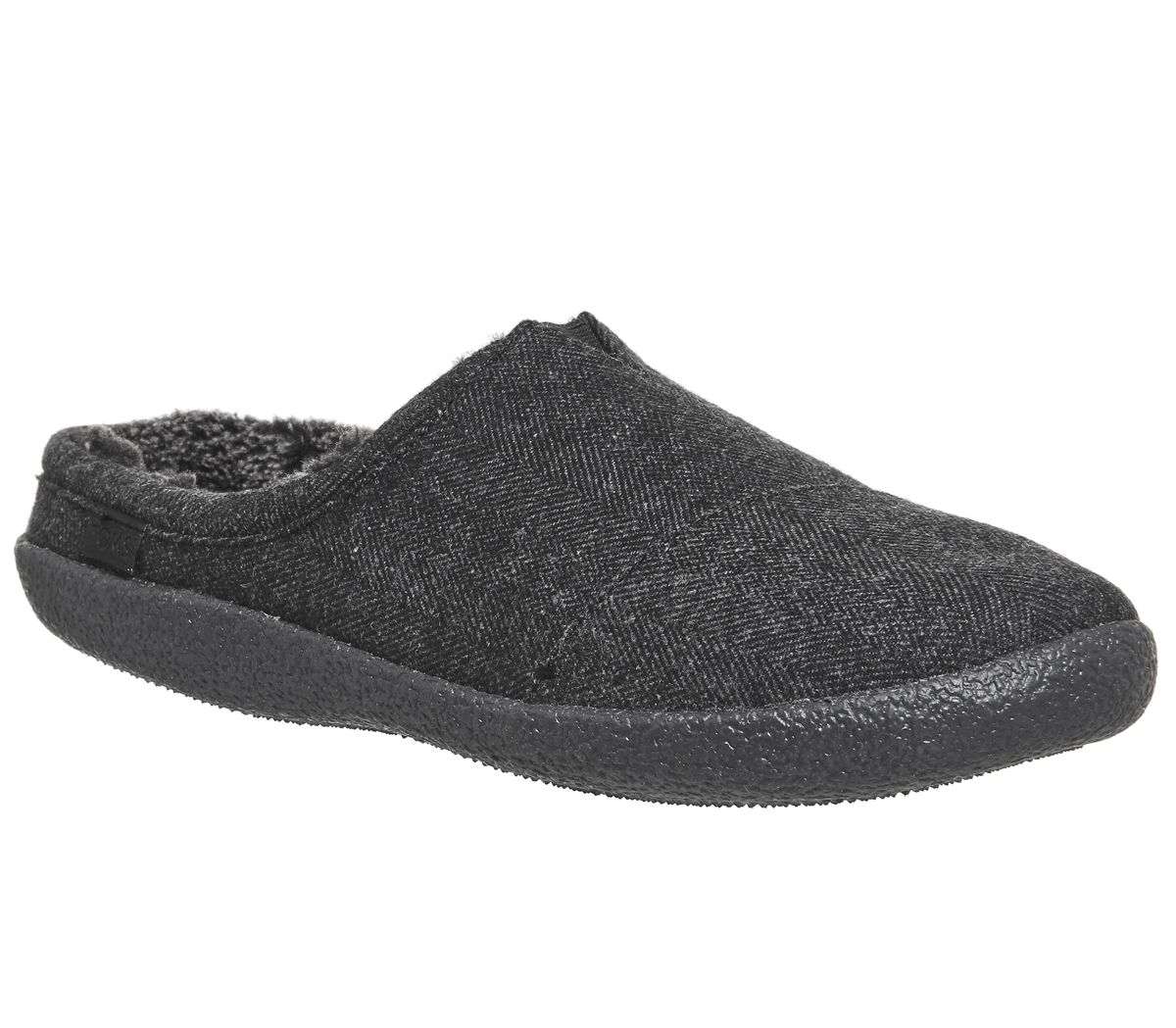 4684bfef4934 Toms Berkeley Slippers Black Herringbone Woolen - Slippers