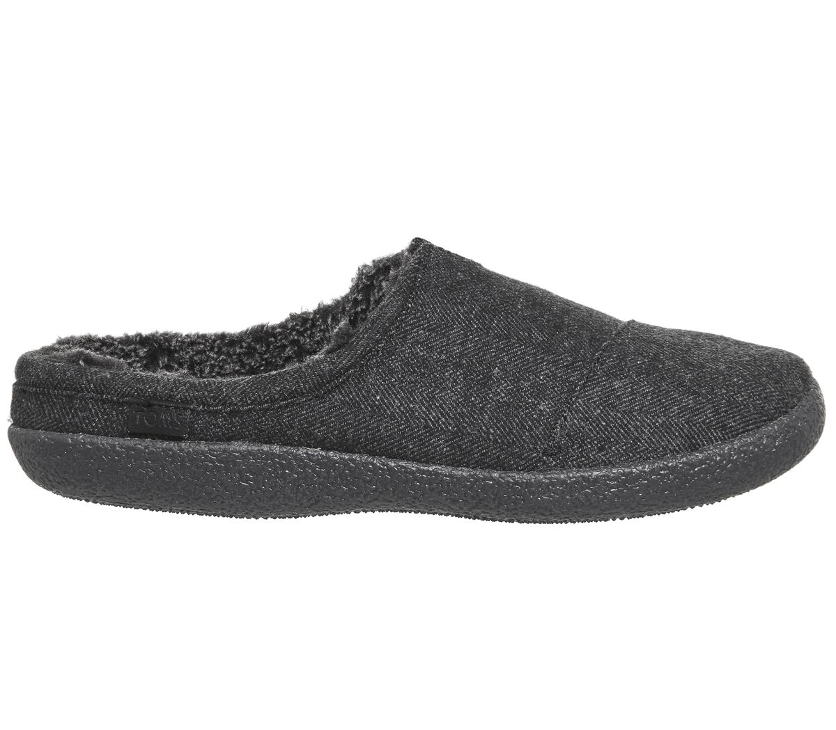 de0dcdbe3 Toms Berkeley Slippers Black Herringbone Woolen - Slippers