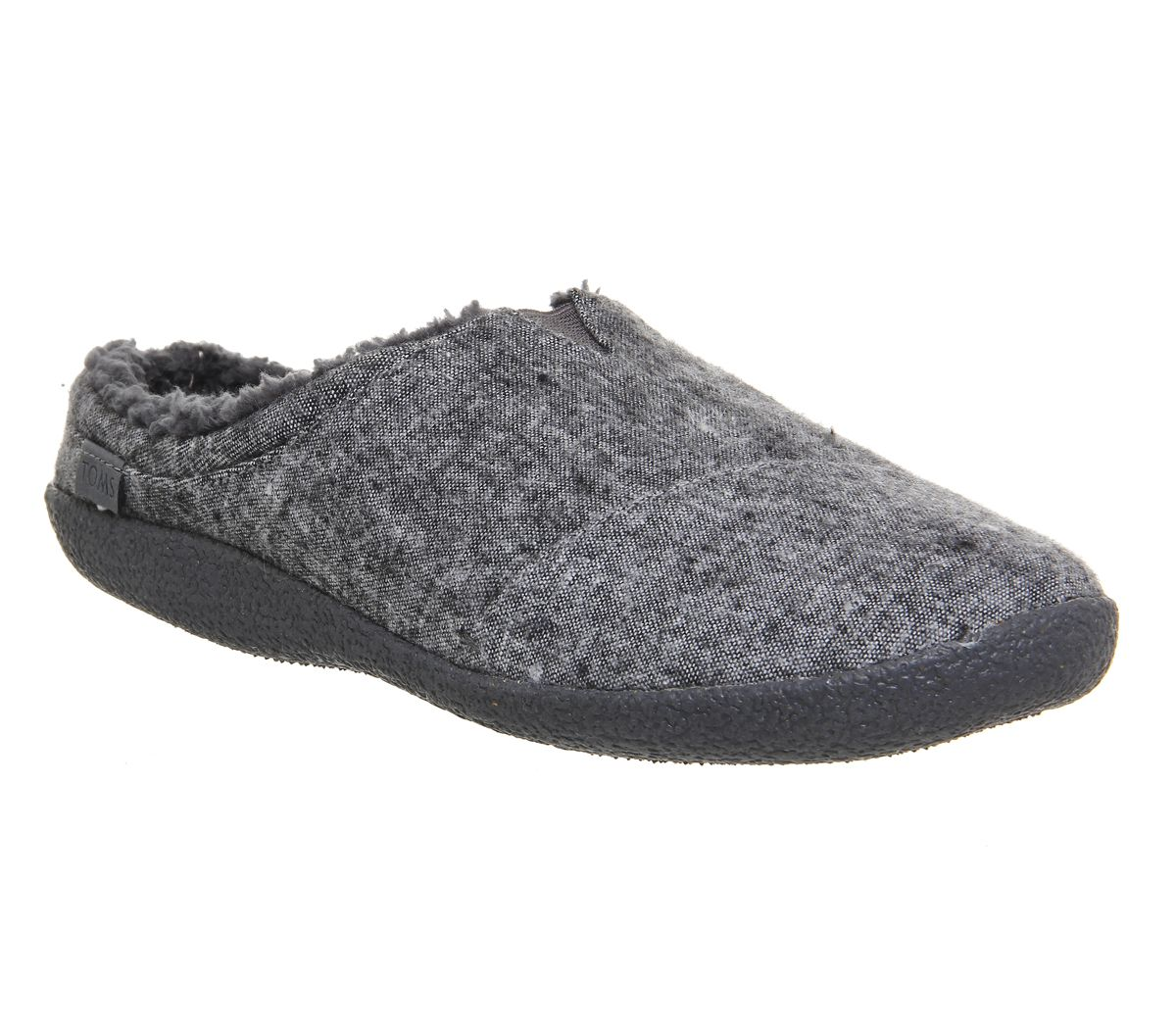 ba74226735c Toms Berkeley Slippers Grey Slub - Slippers