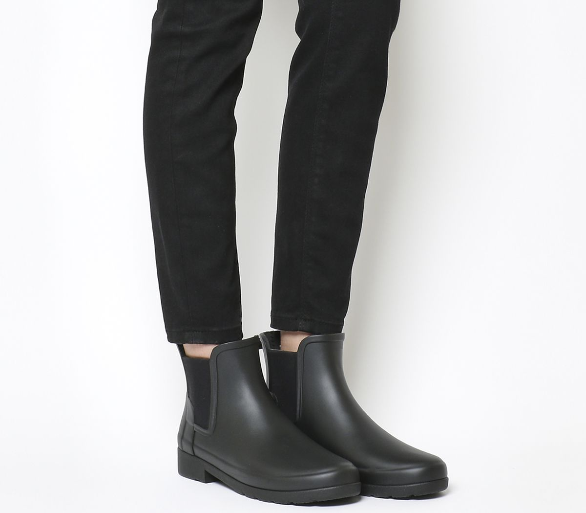 san francisco 288fa 037ff Hunter Original Refined Chelsea Black Matte - Ankle Boots