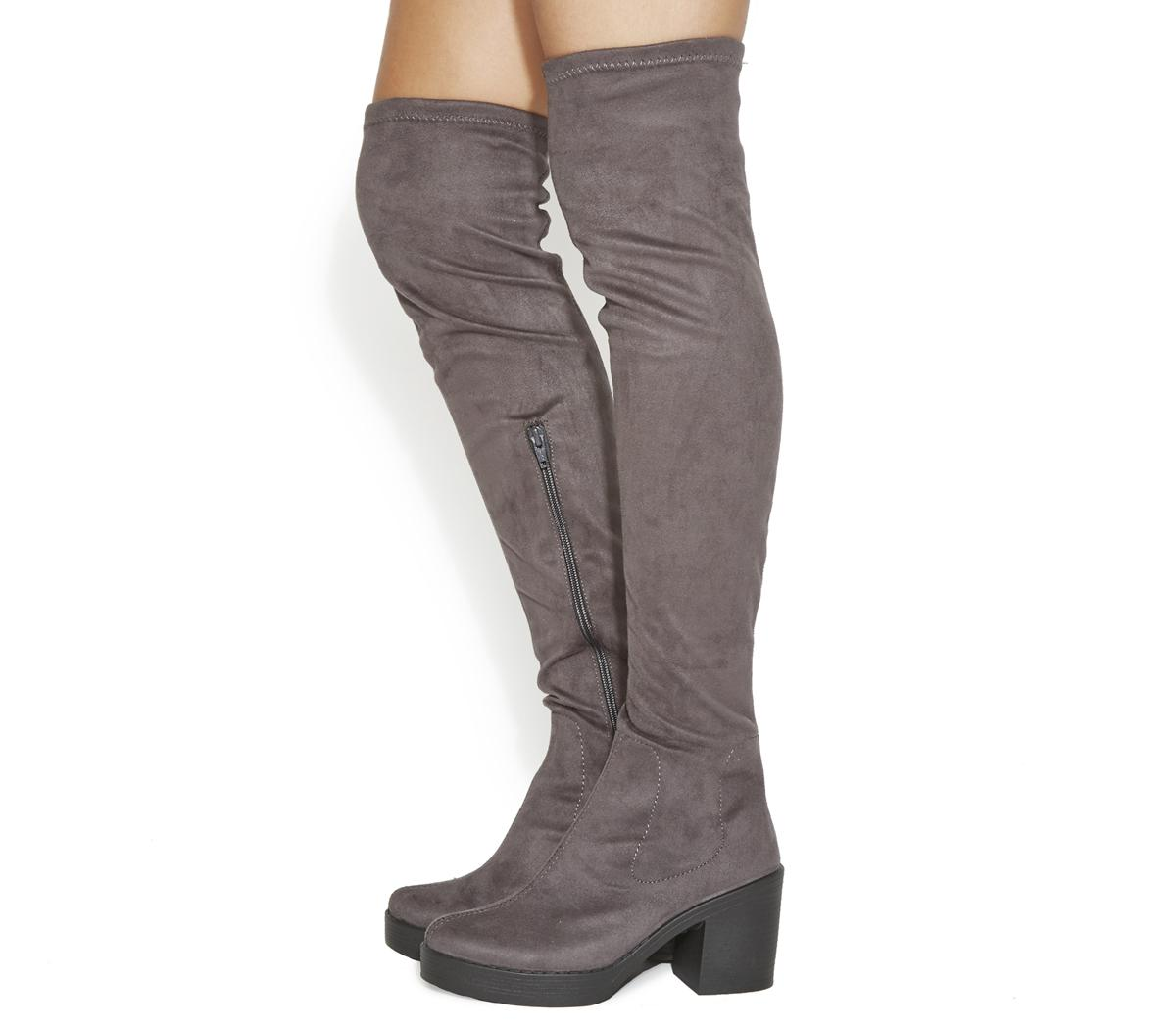 Khloe Stretch Over The Knee Boots