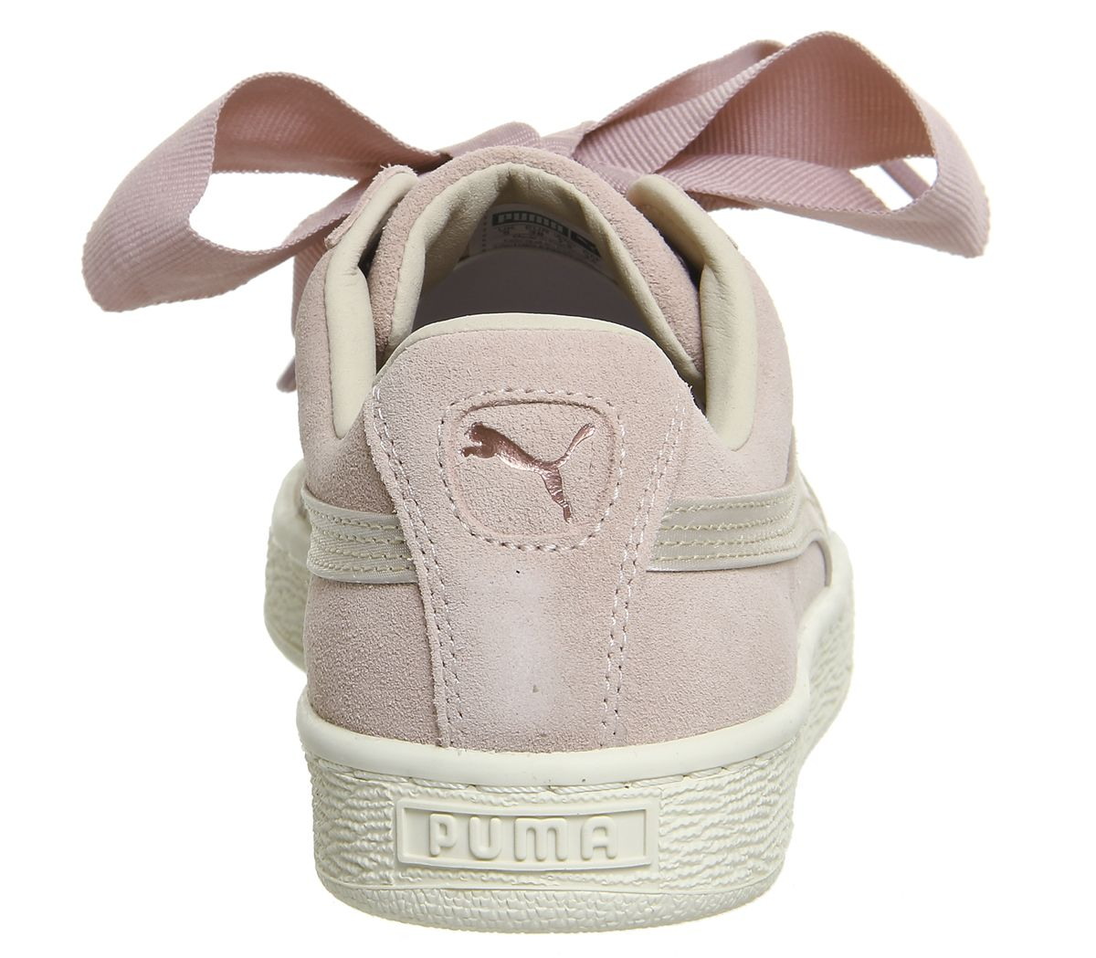 5614c2fc7e6 Puma Suede Heart Trainers Silver Pink Tint Rose Gold - Hers trainers puma  suede heart trainers
