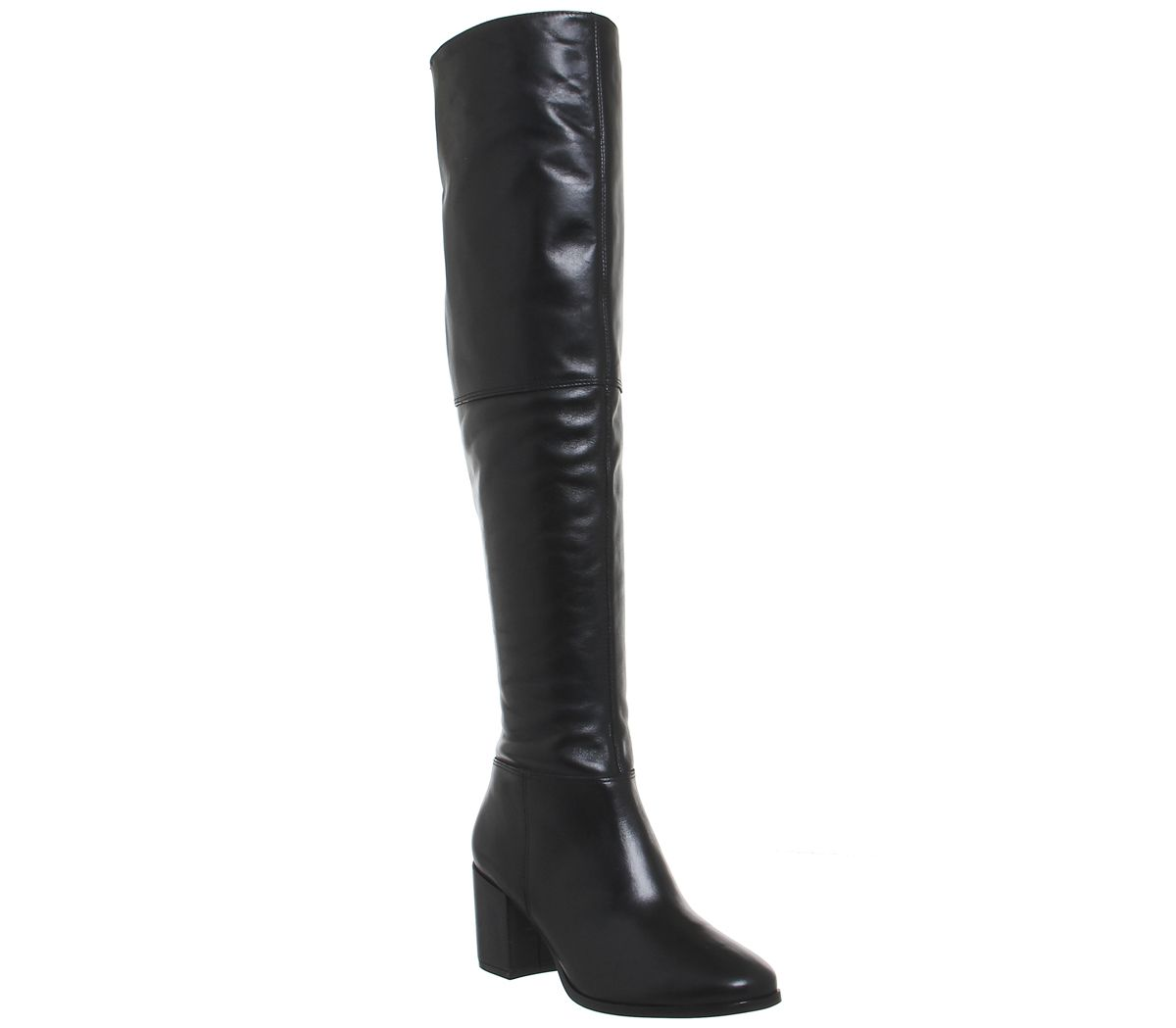 9d77bfa4b33 Office Know It All Over the Knee Boots Black Leather - Knee Boots