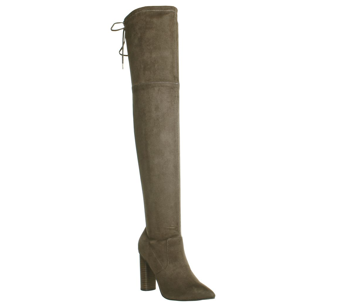a9f2cf20944 Office Kandy Shop Over The Knee Boots Khaki - Knee Boots