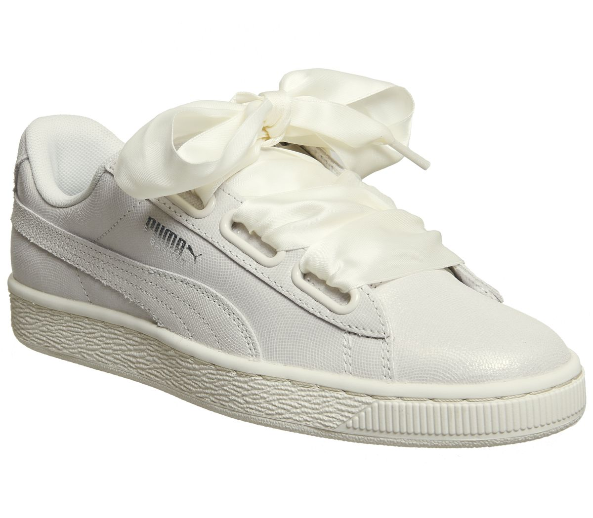 c3a46a9b4eec Puma Basket Heart Trainers Puma White Shine - Sale