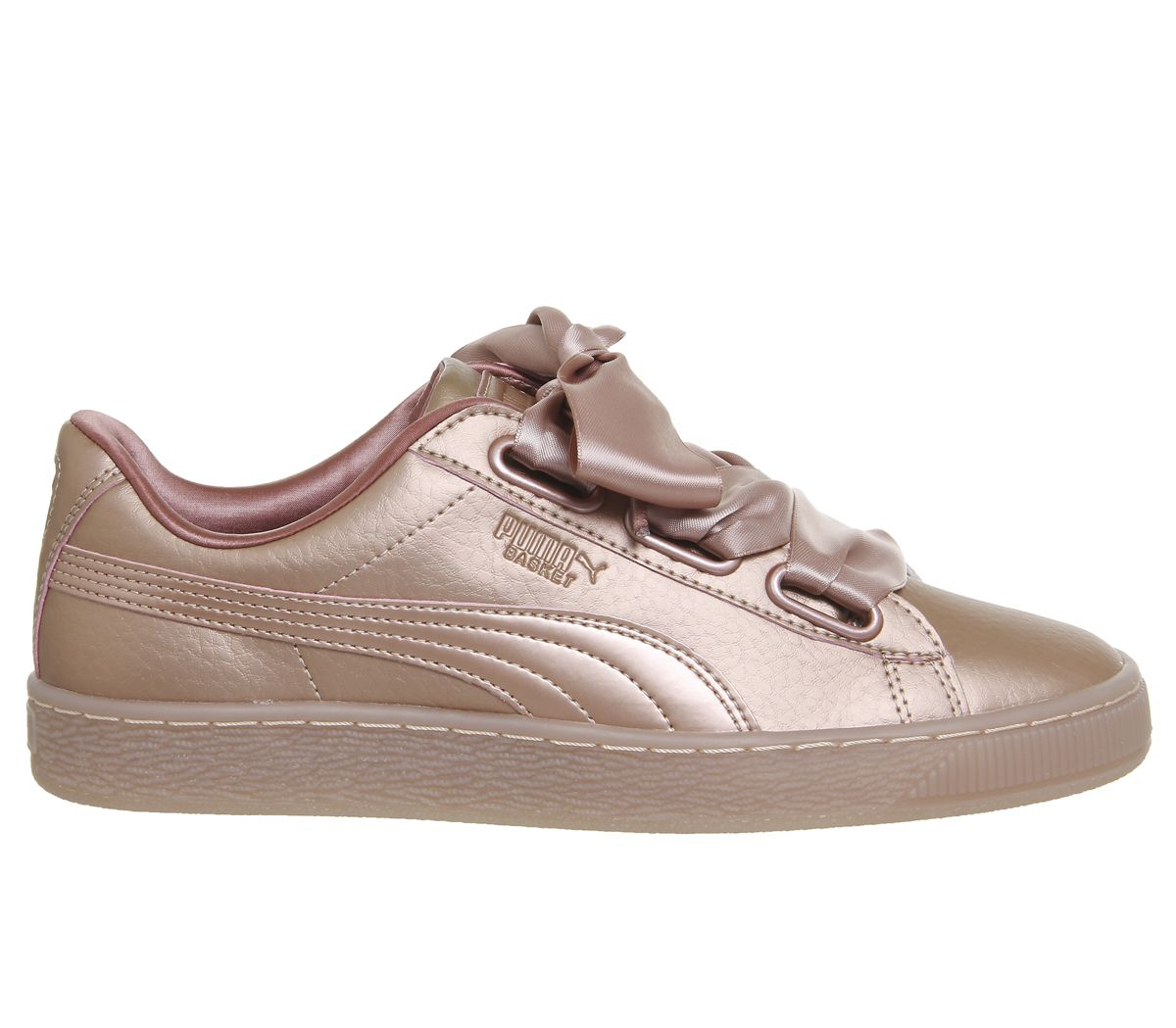 f6414a34f Puma Basket Heart Trainers Rose Copper Metallic - Hers trainers