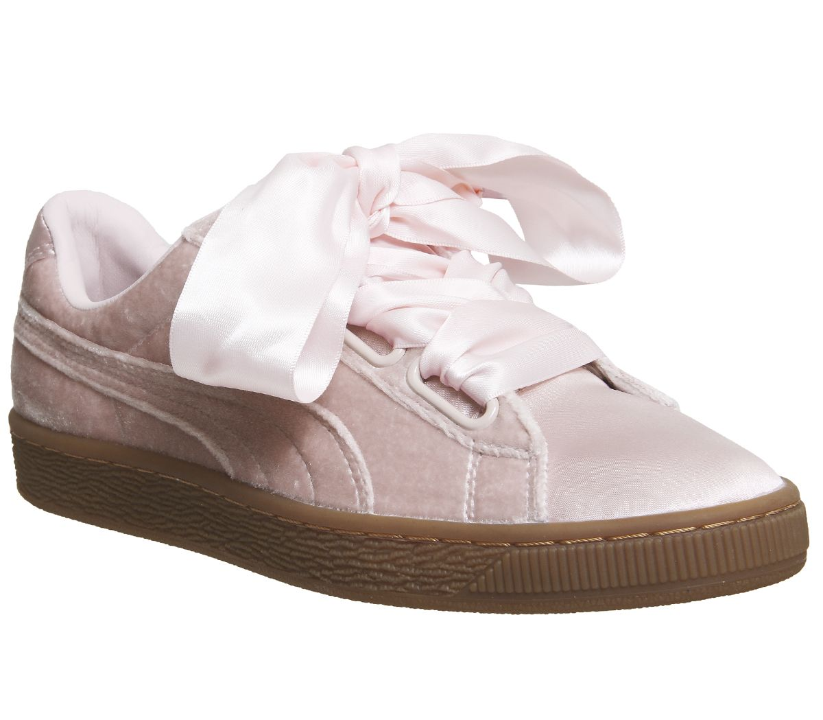 new product e4fdf 9f7fb Puma Basket Heart Trainers Silver Pink Gum - Hers trainers
