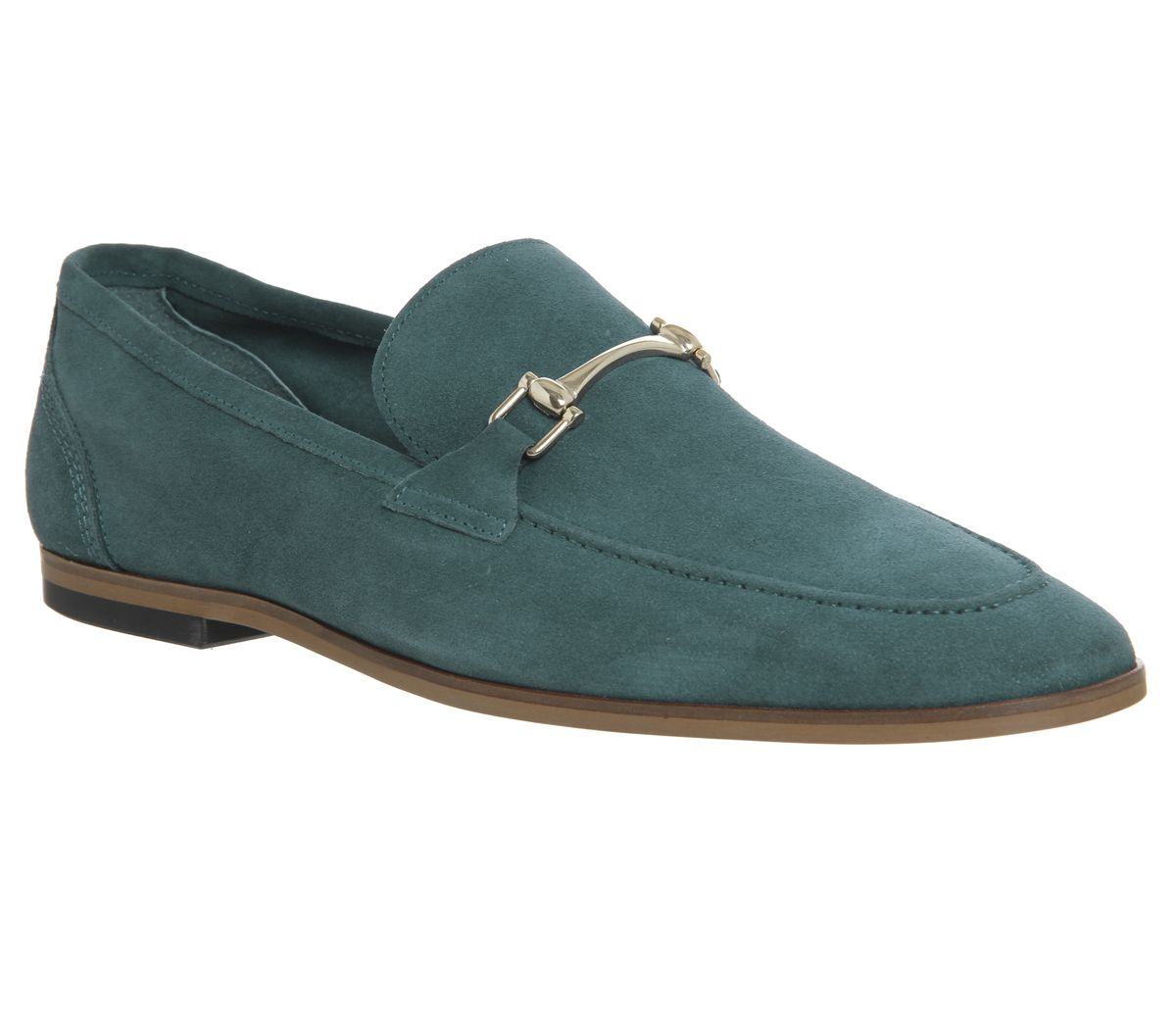 2ad5eded67f Ask the Missus Eugenie Snaffle Loafers Teal Suede - Smart
