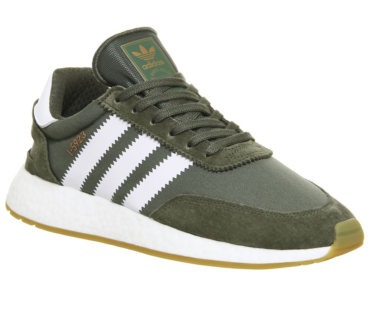 0c32c759a0be7 adidas I-5923 Trainers Base Green White Gum - Unisex Sports